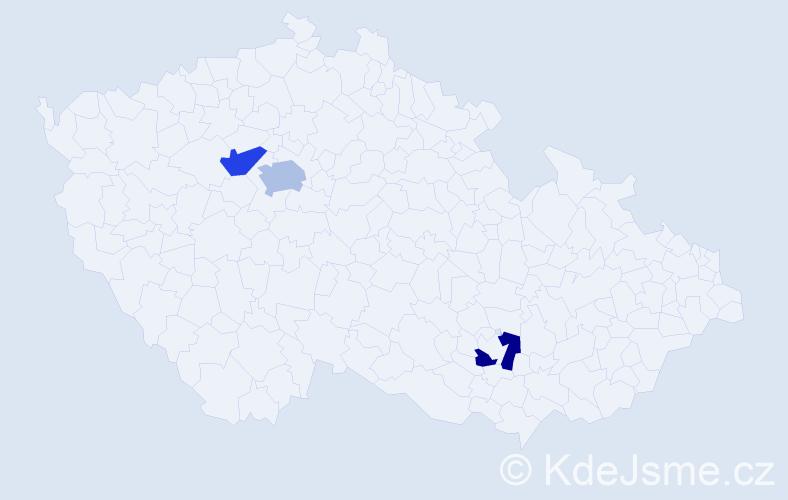 Příjmení: 'Kmuníčková', počet výskytů 7 v celé ČR