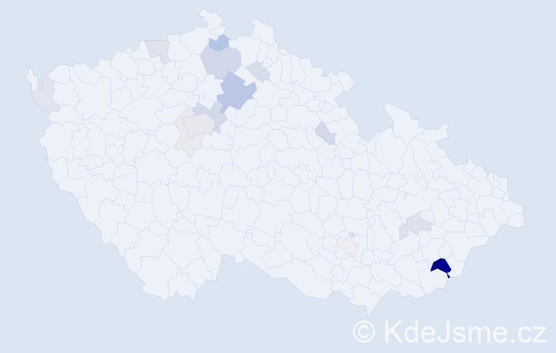 Příjmení: 'Goldbach', počet výskytů 44 v celé ČR