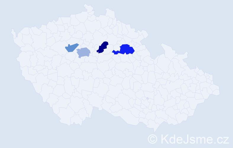 Příjmení: 'Květina', počet výskytů 7 v celé ČR