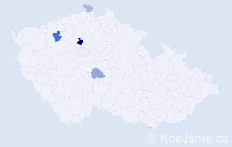 Příjmení: 'Malotínský', počet výskytů 12 v celé ČR