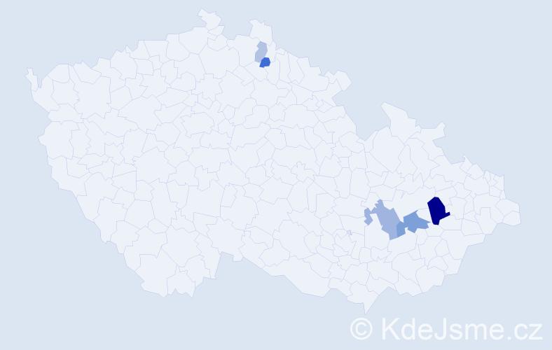 Příjmení: 'Hriník', počet výskytů 12 v celé ČR