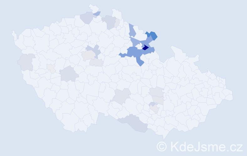 Příjmení: 'Kumprechtová', počet výskytů 90 v celé ČR