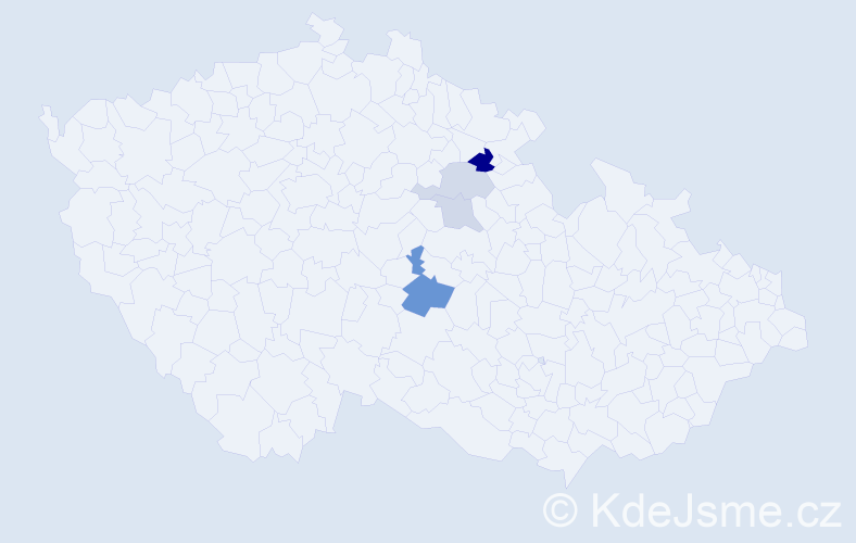 Příjmení: 'Čertnerová', počet výskytů 8 v celé ČR