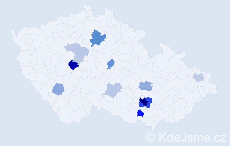 Příjmení: 'Kárná', počet výskytů 51 v celé ČR