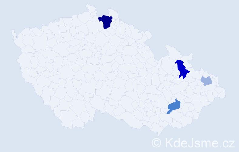 Příjmení: 'Balážovičová', počet výskytů 6 v celé ČR