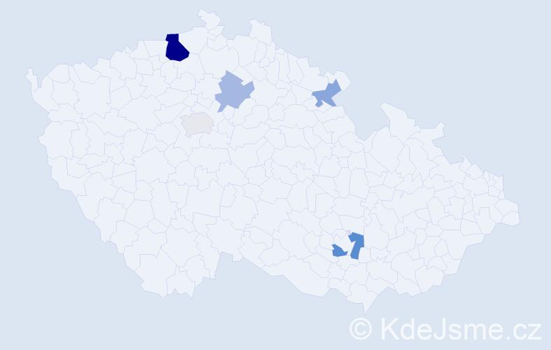 Příjmení: 'Grummich', počet výskytů 12 v celé ČR