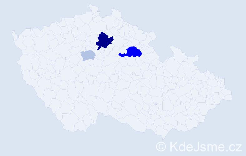 Příjmení: 'Doroš', počet výskytů 3 v celé ČR