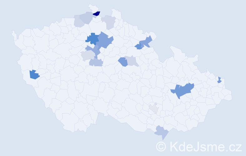 Příjmení: 'Bališová', počet výskytů 35 v celé ČR