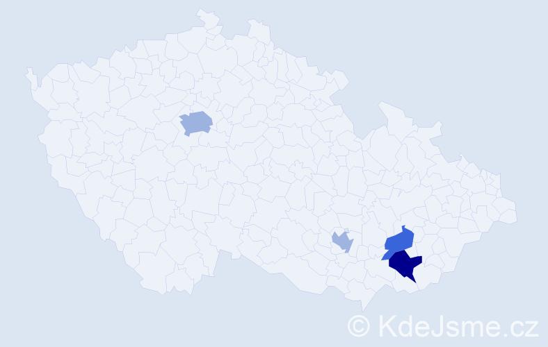 Příjmení: 'Jachura', počet výskytů 7 v celé ČR