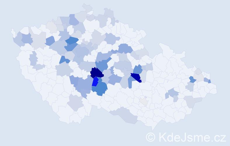 Příjmení: 'Lapáčková', počet výskytů 306 v celé ČR