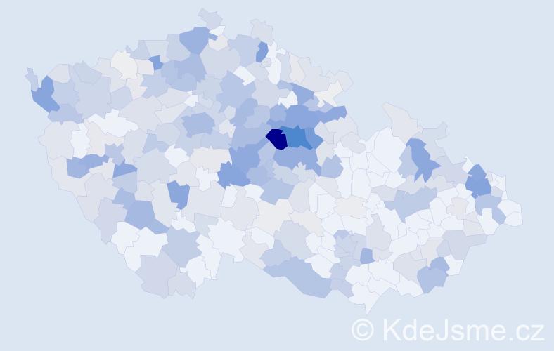 Příjmení: 'Černík', počet výskytů 1274 v celé ČR