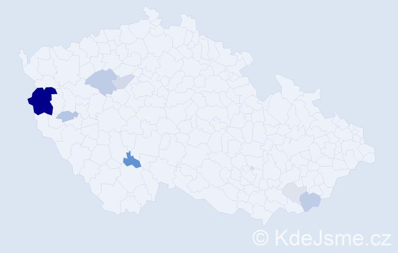 Příjmení: 'Eidelpes', počet výskytů 23 v celé ČR