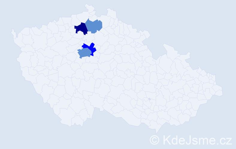 Příjmení: 'Klášterský', počet výskytů 14 v celé ČR