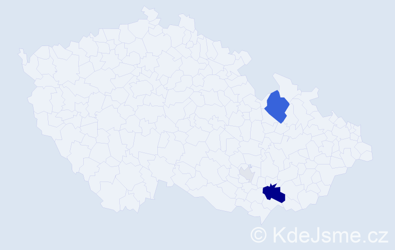 Příjmení: 'Jarýn', počet výskytů 13 v celé ČR