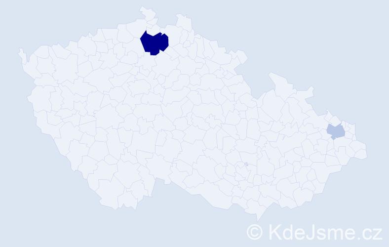Příjmení: 'Gšventnerová', počet výskytů 4 v celé ČR