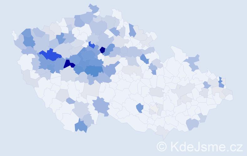 Příjmení: 'Kaucká', počet výskytů 430 v celé ČR