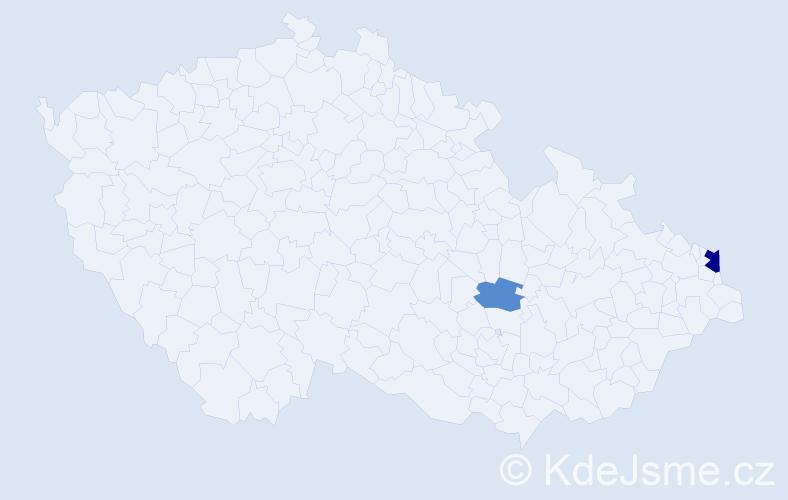 Příjmení: 'Lamatschová', počet výskytů 4 v celé ČR