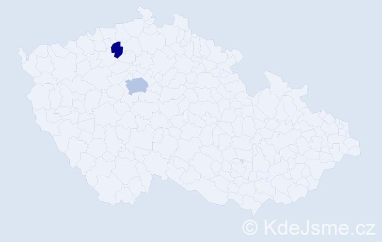 Příjmení: 'Hoffereková', počet výskytů 4 v celé ČR