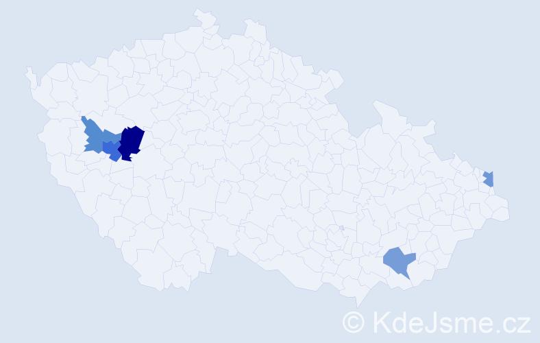 Příjmení: 'Kanyicsková', počet výskytů 8 v celé ČR