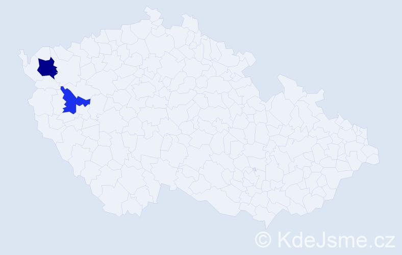 Příjmení: 'Grznarová', počet výskytů 3 v celé ČR