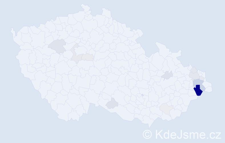 Příjmení: 'Herot', počet výskytů 47 v celé ČR