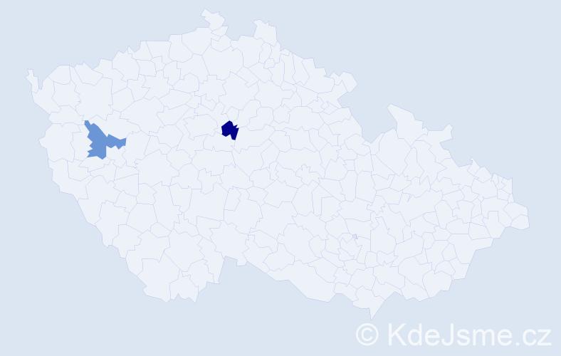 Příjmení: 'Gorbatyjová', počet výskytů 2 v celé ČR