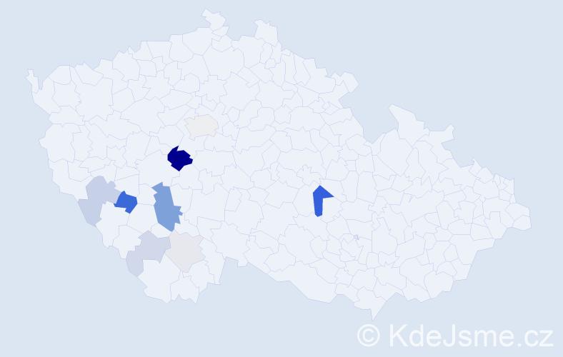 Příjmení: 'Handschuh', počet výskytů 29 v celé ČR