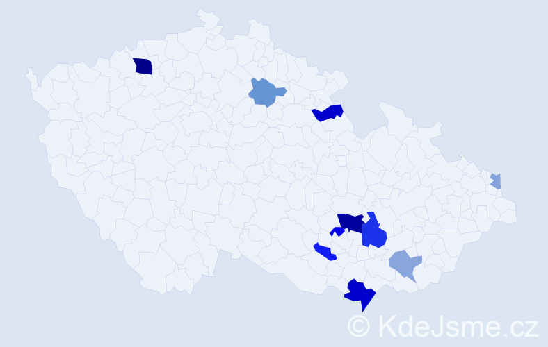 Příjmení: 'Balúchová', počet výskytů 18 v celé ČR