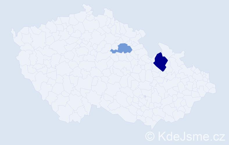 Příjmení: 'Čuchrán', počet výskytů 3 v celé ČR