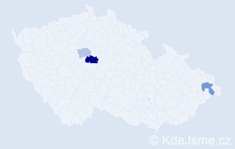 Příjmení: 'Čaplygin', počet výskytů 6 v celé ČR