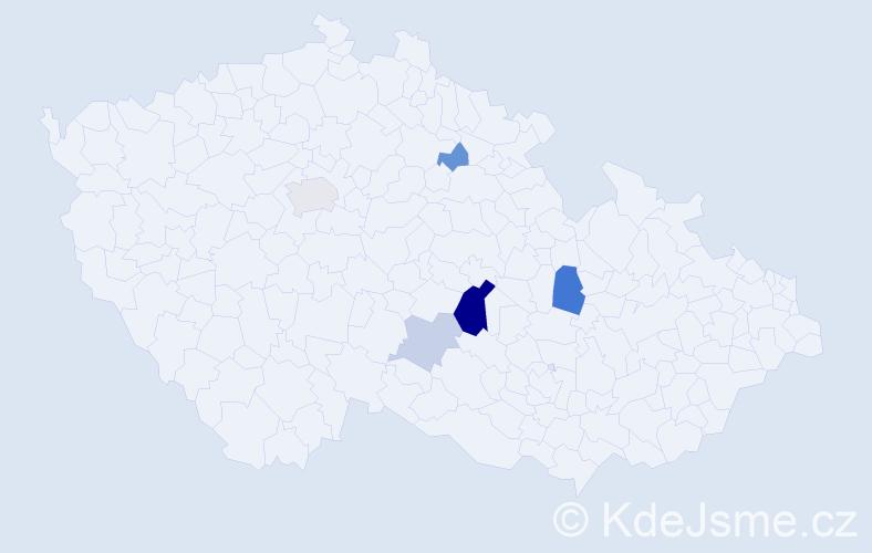 Příjmení: 'Elerová', počet výskytů 12 v celé ČR