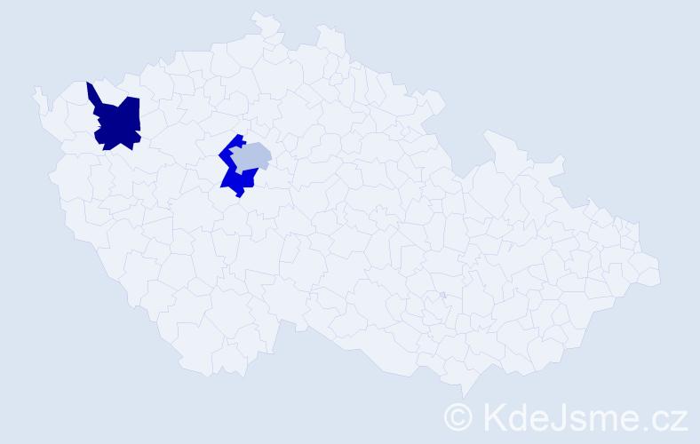 Příjmení: 'Baltićová', počet výskytů 3 v celé ČR