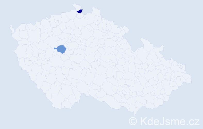 Příjmení: 'Galbo', počet výskytů 2 v celé ČR