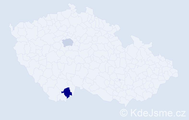 Příjmení: 'Klopf', počet výskytů 4 v celé ČR