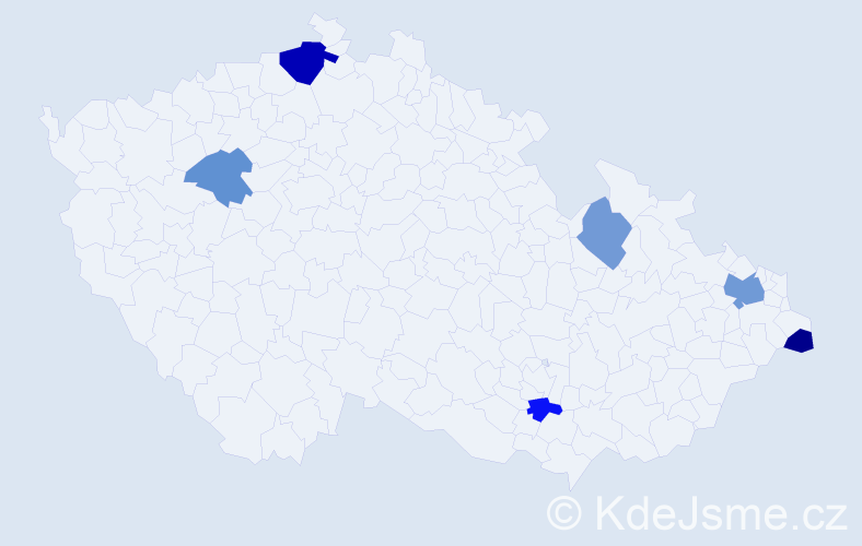 Příjmení: 'Jesch', počet výskytů 10 v celé ČR