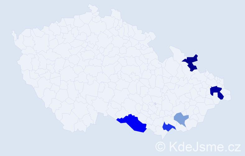 Příjmení: 'Ďurník', počet výskytů 12 v celé ČR