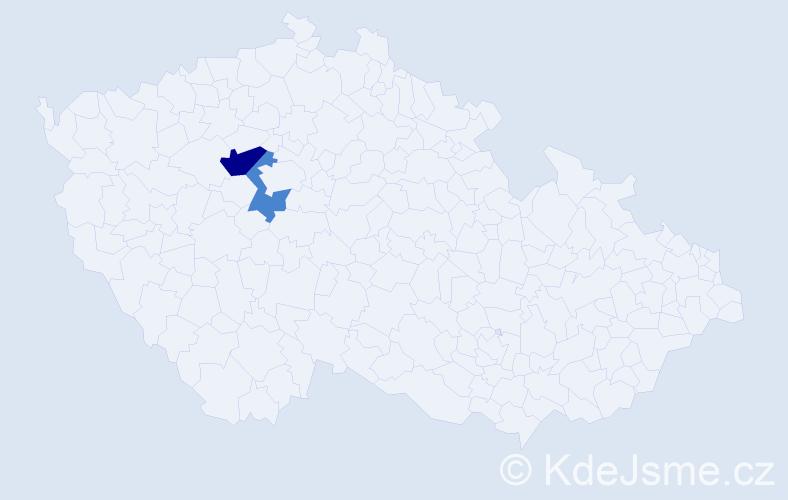 Příjmení: 'Agyagosová', počet výskytů 3 v celé ČR