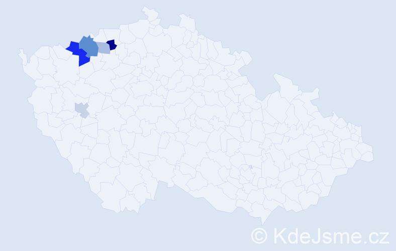 Příjmení: 'Abari', počet výskytů 10 v celé ČR