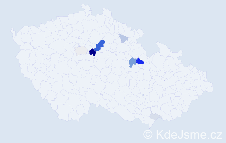 Příjmení: 'Carbová', počet výskytů 27 v celé ČR