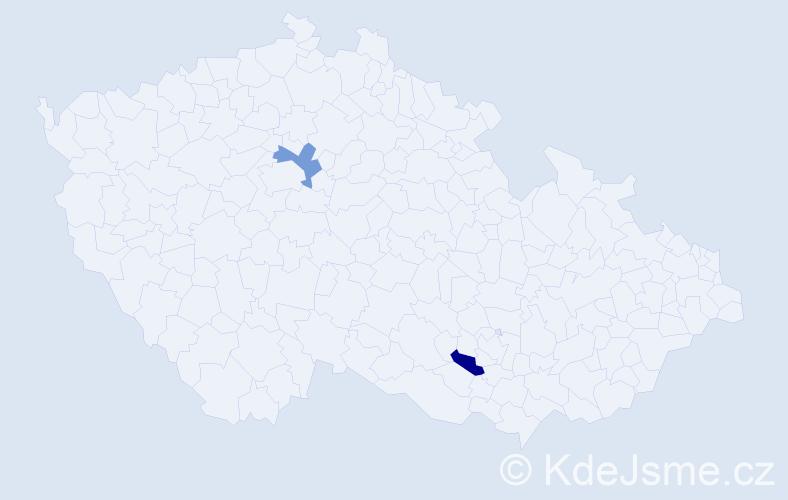 Příjmení: 'Chajma', počet výskytů 4 v celé ČR
