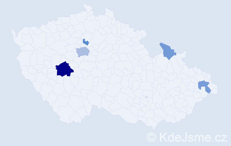 Příjmení: 'Landauerová', počet výskytů 16 v celé ČR