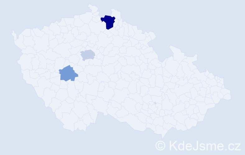 Příjmení: 'Eppertová', počet výskytů 9 v celé ČR