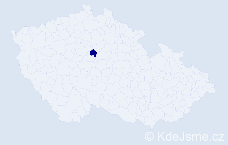 """Příjmení: '""""Houšková Beránková""""', počet výskytů 1 v celé ČR"""