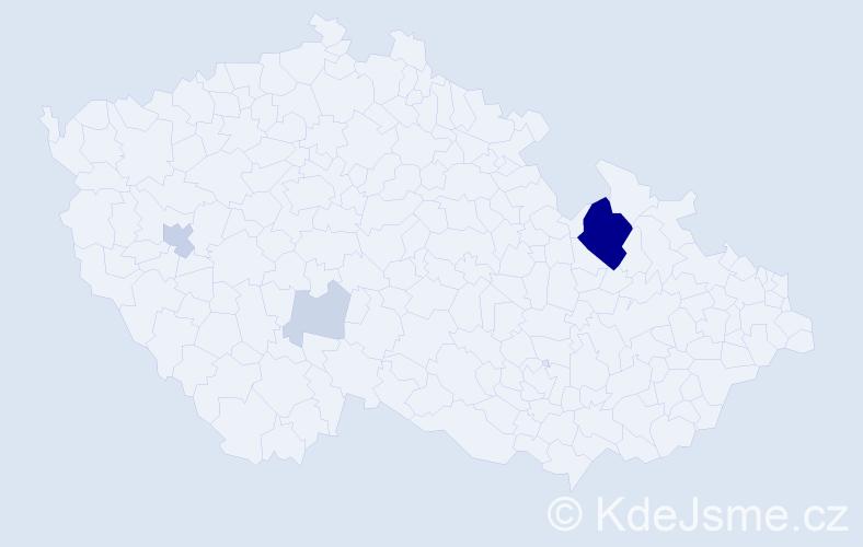 Příjmení: 'Gural', počet výskytů 15 v celé ČR