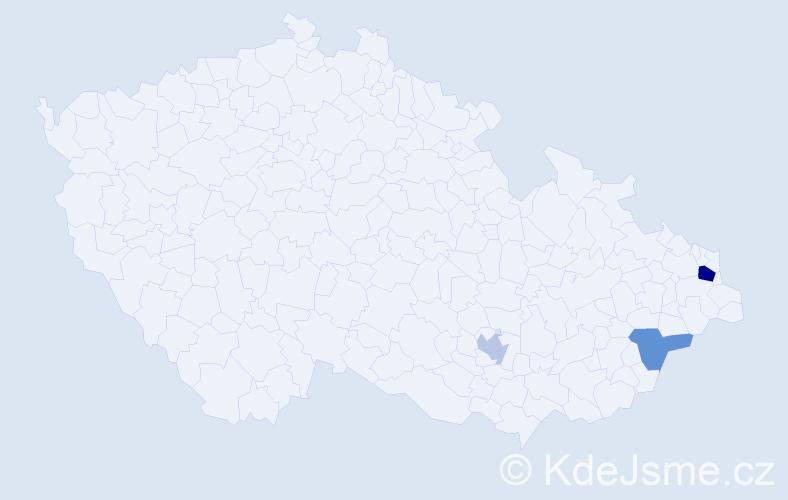Příjmení: 'Antończyková', počet výskytů 5 v celé ČR