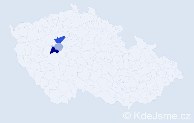 Příjmení: 'Eichenmannová', počet výskytů 10 v celé ČR