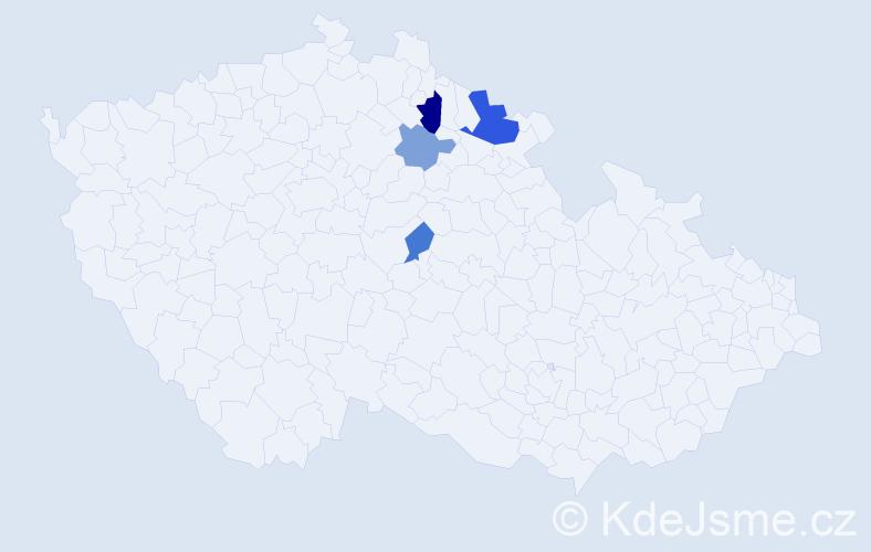 Příjmení: 'Czibulka', počet výskytů 7 v celé ČR