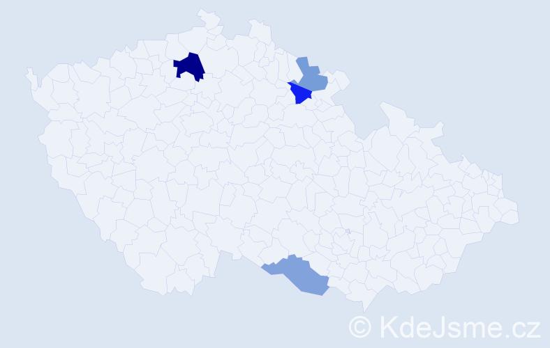 Příjmení: 'Kamluk', počet výskytů 6 v celé ČR