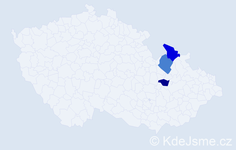 Příjmení: 'Čiscoňová', počet výskytů 8 v celé ČR