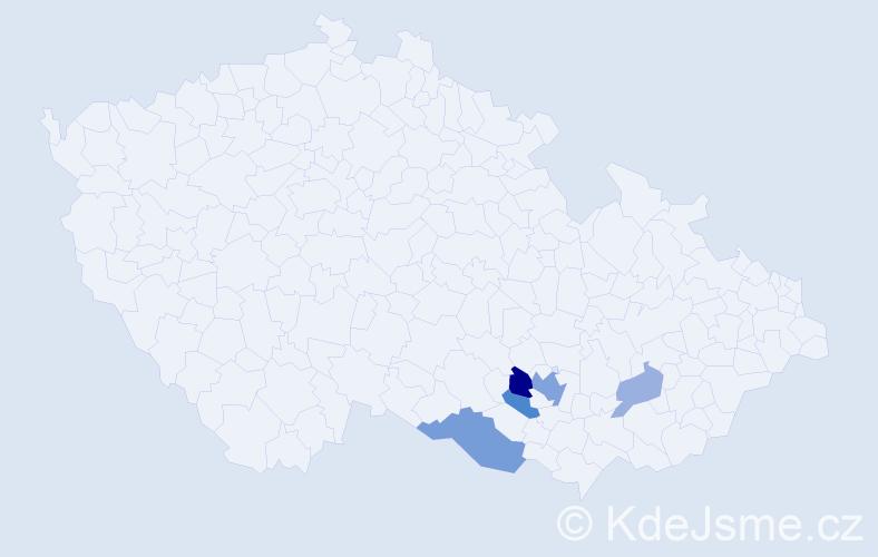 Příjmení: 'Irsenská', počet výskytů 11 v celé ČR